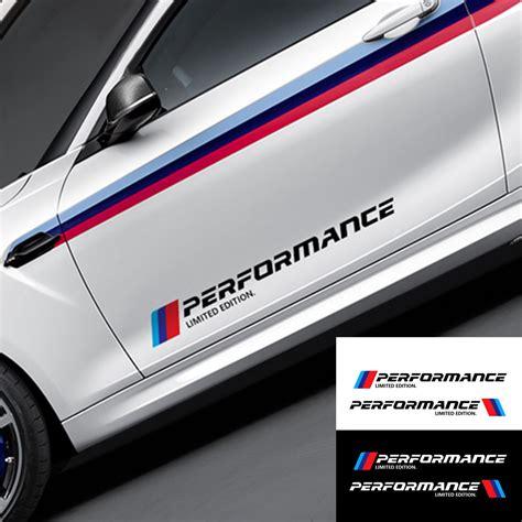 Sticker Side Bmw Motorsport Decal 2x 2x car stickers m performance car side 3d sticker for bmw f30 f10 f20 e90 e60 e40 e36 e46 1