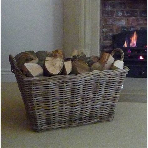 Christmas Fireplace Decorating Ideas large log basket by marquis amp dawe notonthehighstreet com