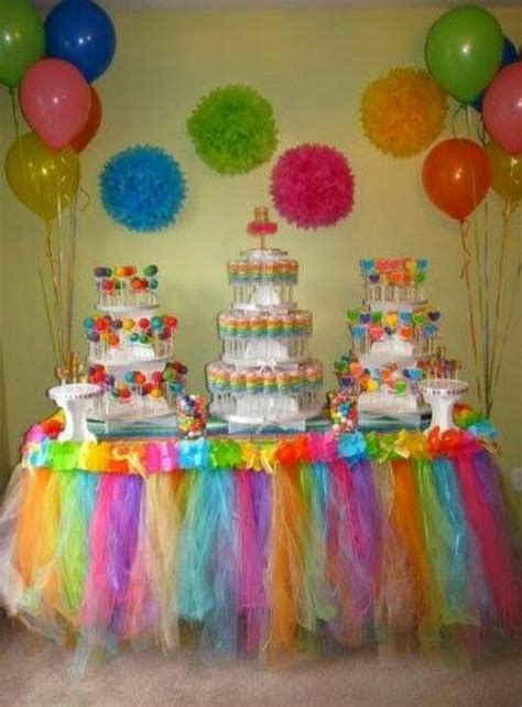 colour themed party decorations rainbow theme party planning ideas pinterest
