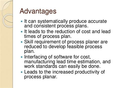design for manufacturing advantages computer aided process planning capp