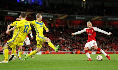 arsenal bate arsenal 6 bate 0 gunners storm to europa league victory