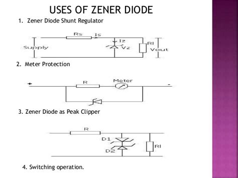 use of diodes in a circuit semiconductor diode