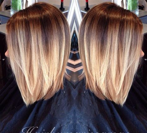 blonde ombre chin length hair latest trend blonde ombre colored short hair short