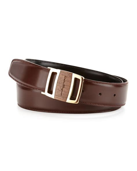salvatore ferragamo reversible sardegna leather belt