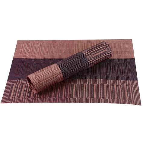 placemats for table pvc bamboo plastic placemats for dining table minorshop
