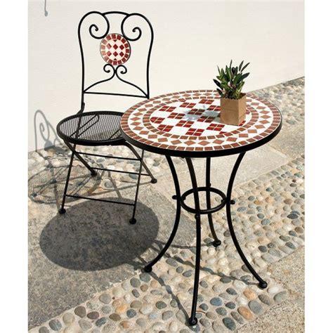 tavolo giardino ferro battuto tavolo da giardino ferro battuto rotondo mosaico san marco