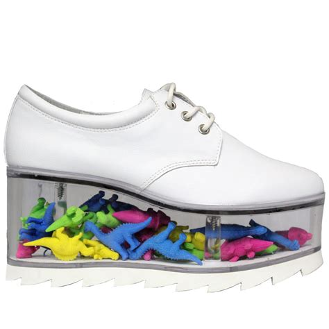 yru shoes new yru qloud 2091 funky clear bottom platform lace up
