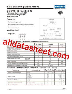4148 diode pdf cdsv6 4148 g datasheet pdf comchip technology