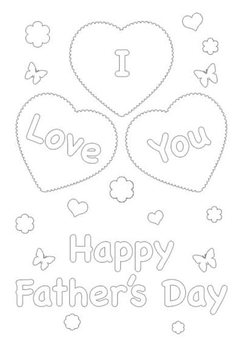 father day cards to color printable colour in fathers day cards free coloring pages