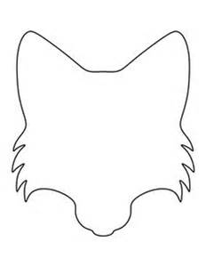 Fox Template by Wolf Paw Print Pattern Use The Printable Outline For