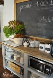 Blue Kitchen Canister by Remodelaholic 13 Ideas For A Home Coffee Bar