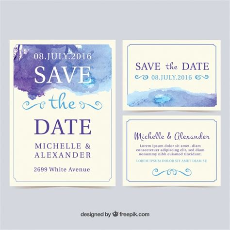 Wedding Invitations Free Sles by Watercolor Wedding Invitation Cards Vector Free