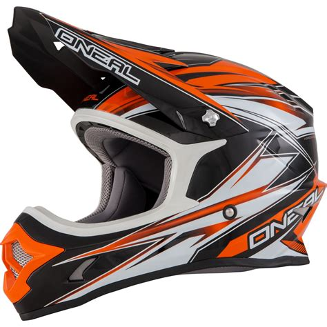 orange motocross helmet oneal 3 series hurricane enduro mx moto x dirt bike