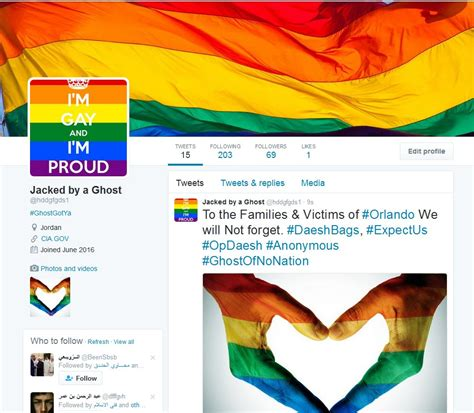 anonymous tutorial hack isis anonymous defacing isis twitter handles with lgbt content