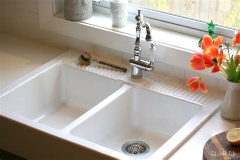 Farm Sink Kitchen by Lilyfield Life Loving My Ikea Domsj 214 Sink