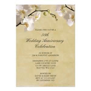 sle invitation cards for wedding anniversary 50th wedding anniversary vintage white orchid invitation
