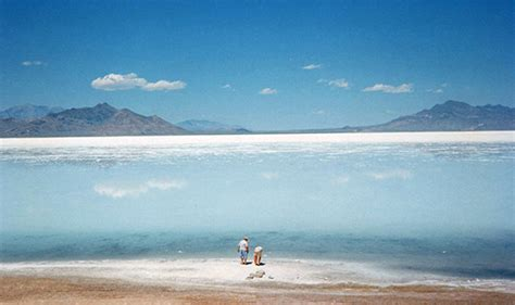 Sahara Desert Snow by Salt Lake Desert And The Great Salt Lake Utah