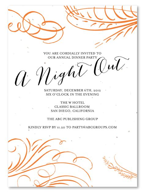 corporate holiday party invitations a night out by green