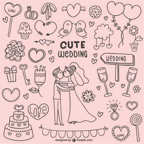 free doodle vectors wedding doodles vector free