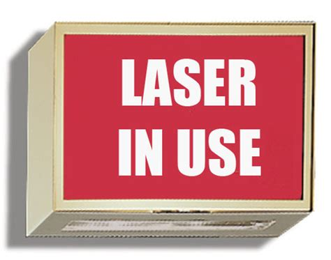 room in use lighted sign illuminated sign laser in use techno aide