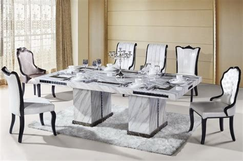 Contemporary Round Glass Top Dining Table