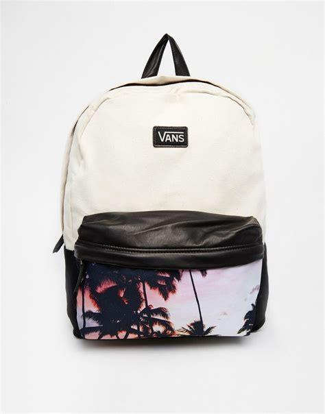Bag Ransel Fashion D7584 1 bild 1 vans deana rucksack mit palmen und fotoprint style vans