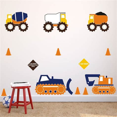 construction wall stickers construction trucks wall stickers by mirrorin notonthehighstreet