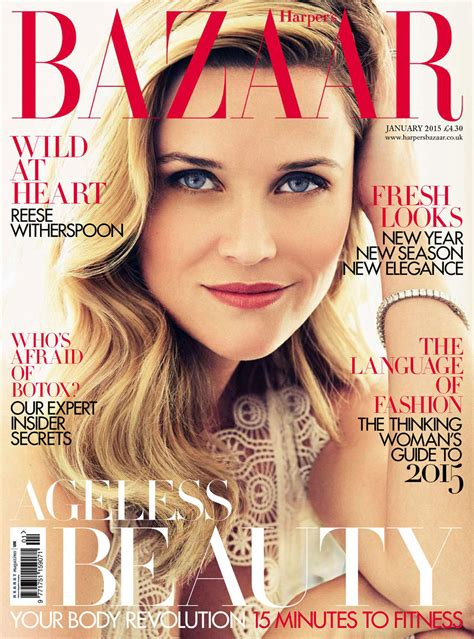 In Harpers Bazaar by Reese Witherspoon In S Bazaar Magazine January