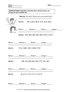 Median And Mode Worksheets With Answer Key