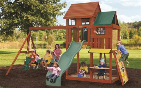 big backyard wooden playsets big backyard kingswood playset the home depot canada