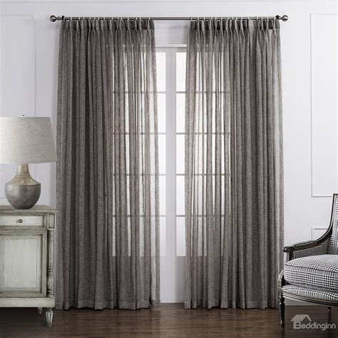Polyester Sheer Curtains Popular Classic Polyester And Linen Custom Sheer Curtain Beddinginn
