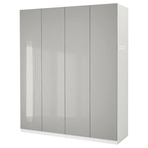 ikea wardrobe light pax wardrobe white fardal high gloss light grey 200x60x236