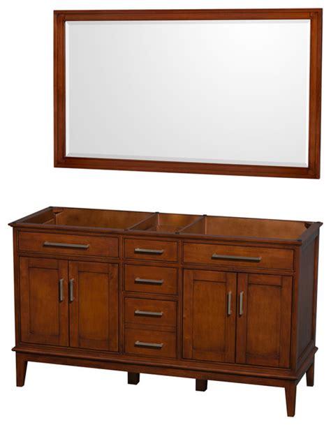 hatton 60 quot light chestnut bathroom vanity no