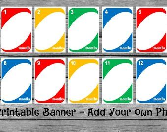 printable uno card template 1st birthday card etsy