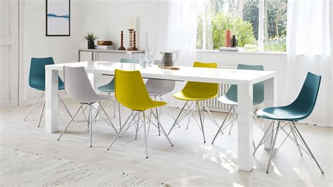 Extension Dining Room Tables Fern White Gloss Extending Dining Table Danetti Uk