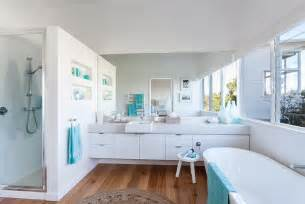 House And Home Bathroom Serene Beach House Taken Over By Coastal Beauty