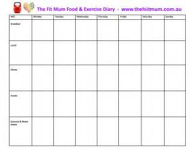 Food And Exercise Diary Template best photos of food log template daily food diary