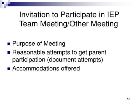 Invitation Letter To Iep Meeting Ppt Idea 2004 The Special Education Process Powerpoint Presentation Id 1270993