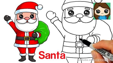 best drawi g of santa clause with chrisamas tree how to draw santa claus easy