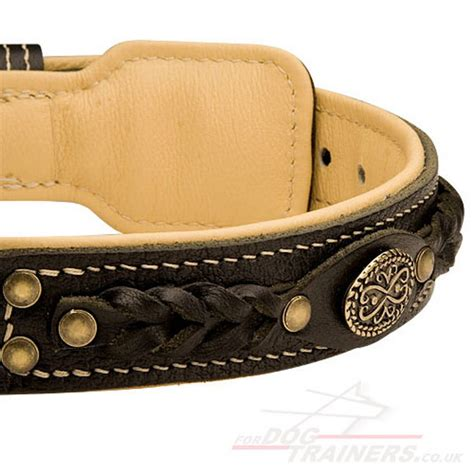 Handmade Leather Collars Uk - handmade leather collars for boxer luxury
