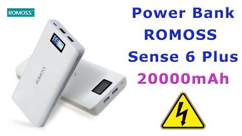 Power Bank Romoss 20000mah Power Bank Romoss Sense 6 Plus Lcd 20000mah