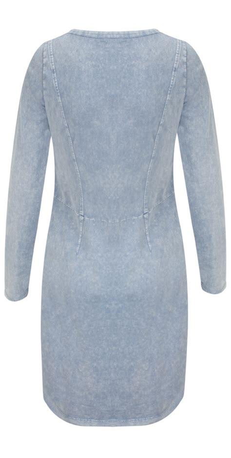 Slit Hem Washed sandwich clothing sleeve jersey dress with split hem