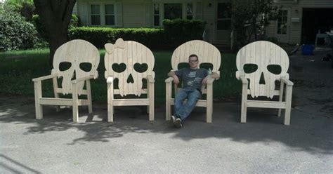 backyard skulls skull chairs love this for the home pinterest