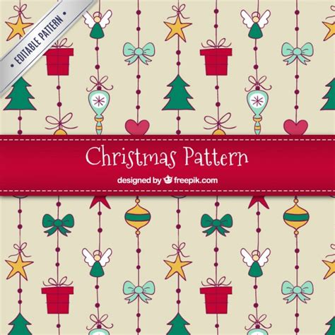 christmas pattern ai hand drawn christmas pattern vector free download