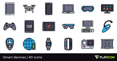 smart devices smart devices 40 premium icons svg eps psd png files