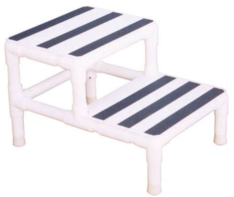 Senior Step Stool by Step Stool Single W 1 Handrail Pvc Mri Daily Care For