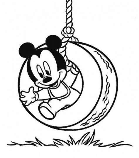 Balancoire Mickey by Coloriage Mickey Dans La Balan 231 Oire Dessin Gratuit 224 Imprimer
