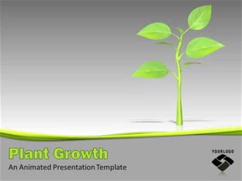 Growing Plant A Powerpoint Template From Presentermedia Com Plant Powerpoint Templates Free