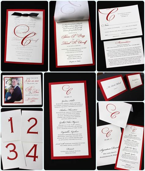 wedding invitation design red 12 mind blowing black white and red wedding invitations