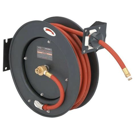 new auto rewind retractable 3 8 quot x 50 air compressor hose and reel 300 psi ebay